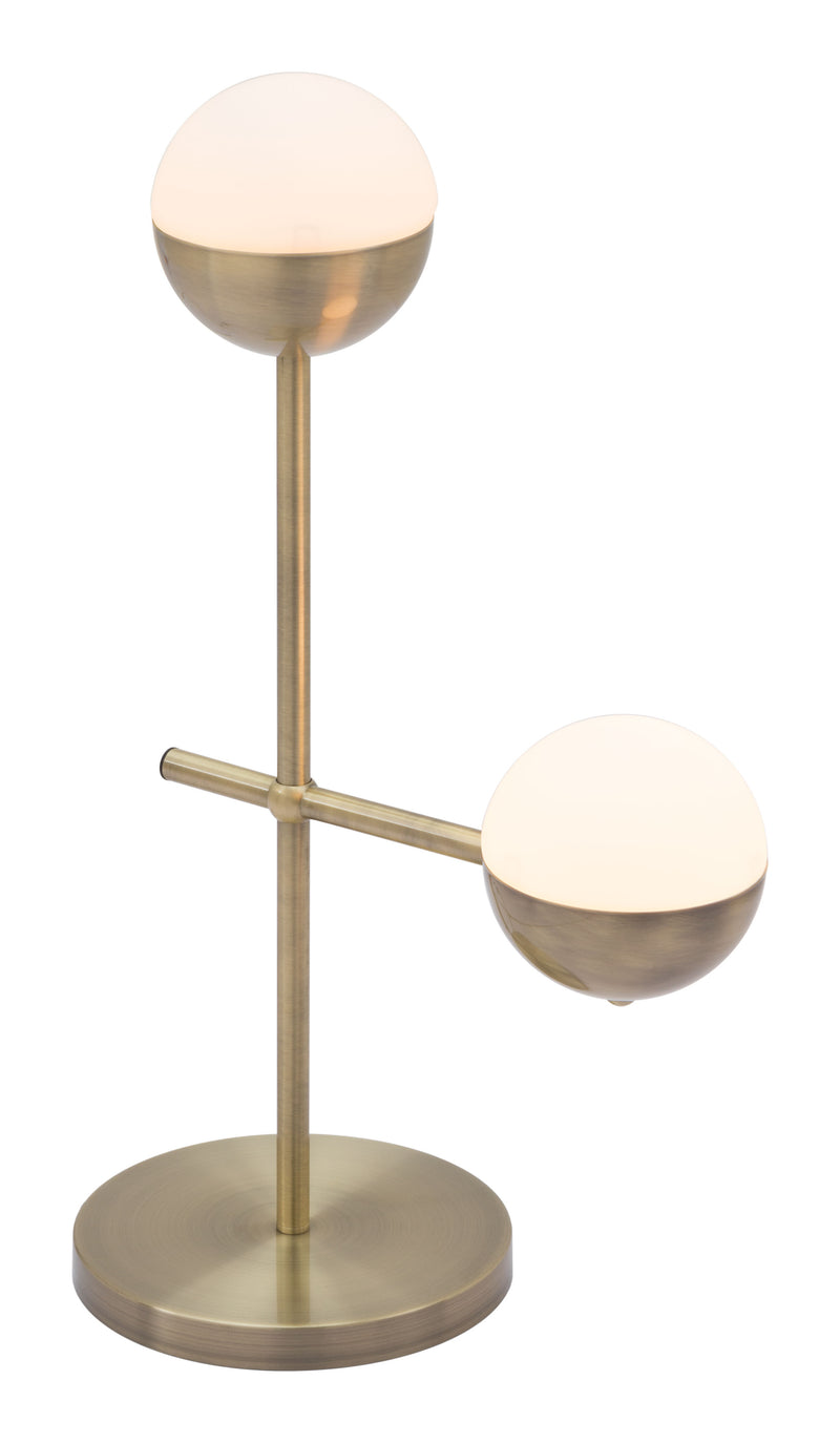 Waterloo Table Lamp (White & Brushed Bronze)