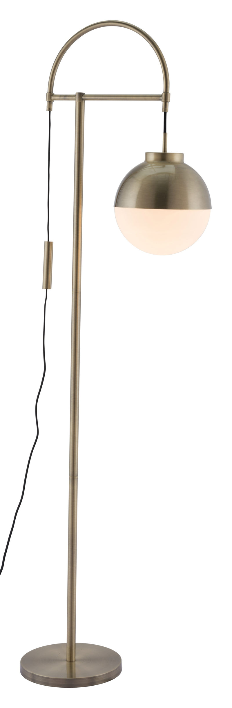 Waterloo Floor Lamp (White & Brushed Brass)