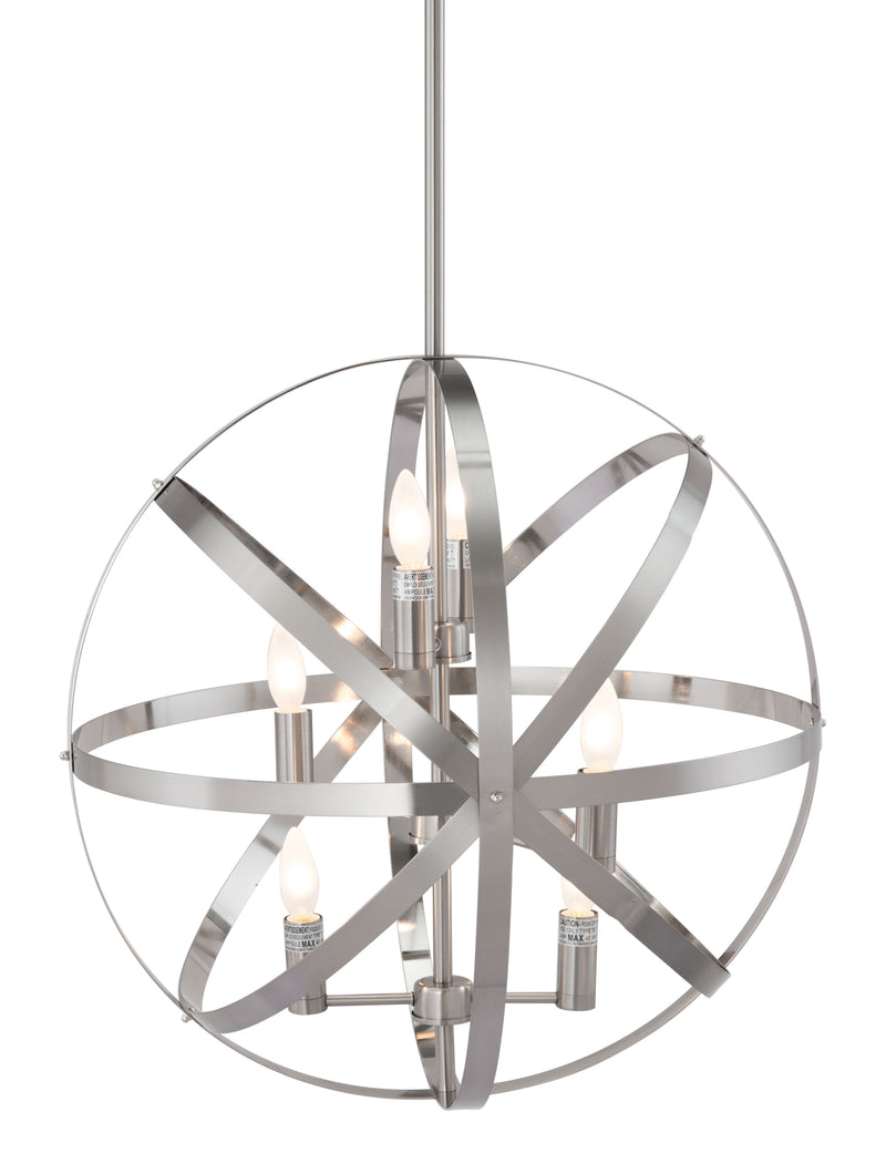 Aston Ceiling Lamp (Satin Nickel)