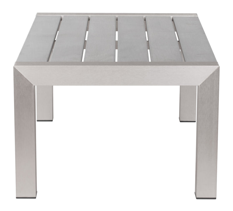 Cosmopolitan Coffee Table (Brushed Aluminum)
