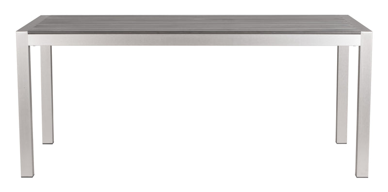 Metropolitan Dining Table (Brushed Aluminum)