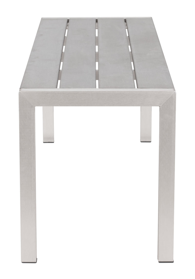 Metropolitan Double Bench (Brushed Aluminum)