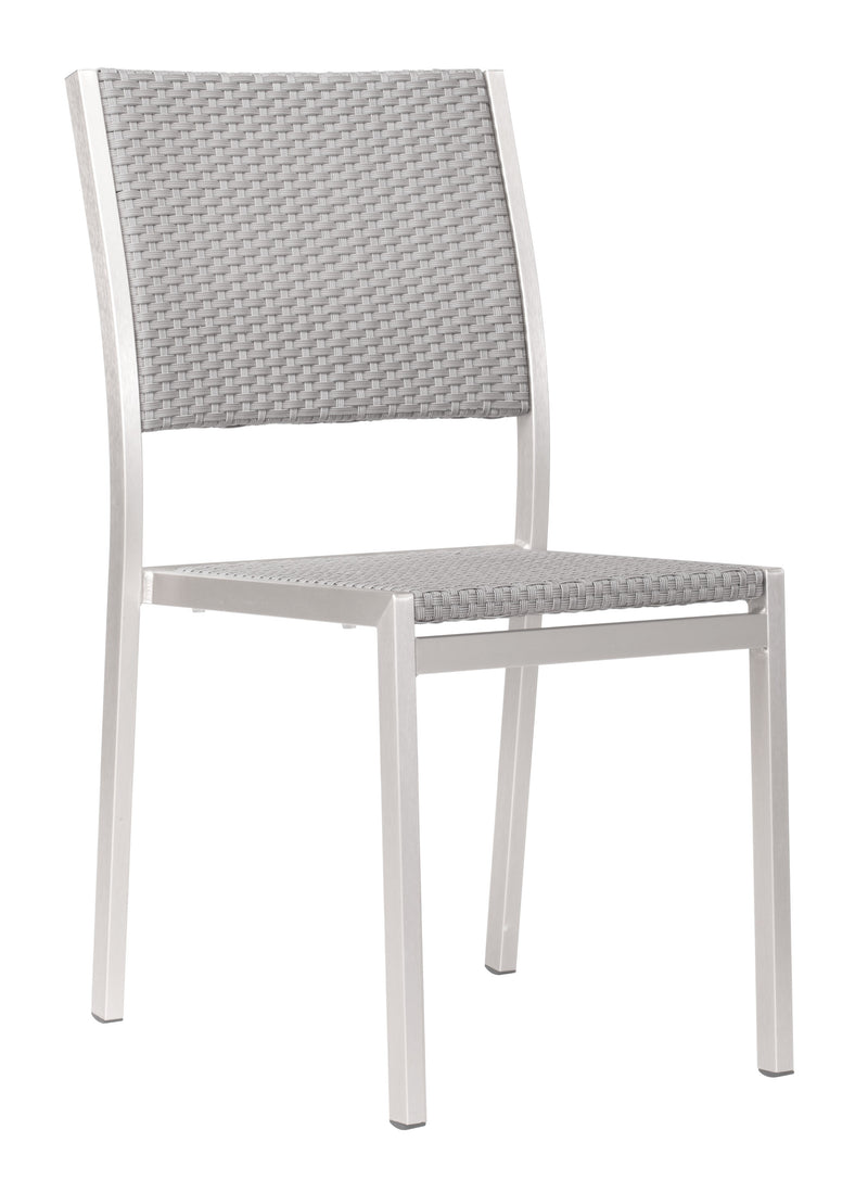 Metropolitan Dining Armless Chair (Brushed Aluminum)