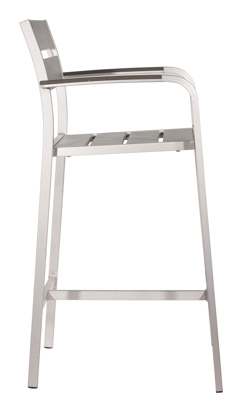 Megapolis Bar Arm Chair (Brushed Aluminum)