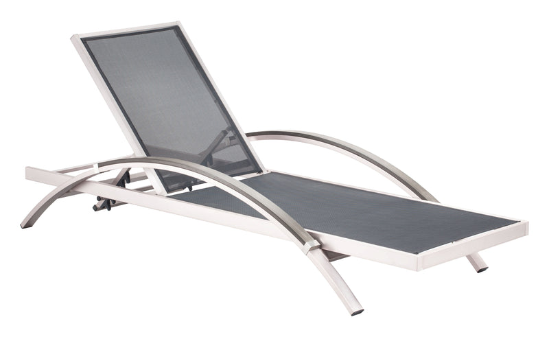 Metropolitan Chaise Lounge (Brushed Aluminum)
