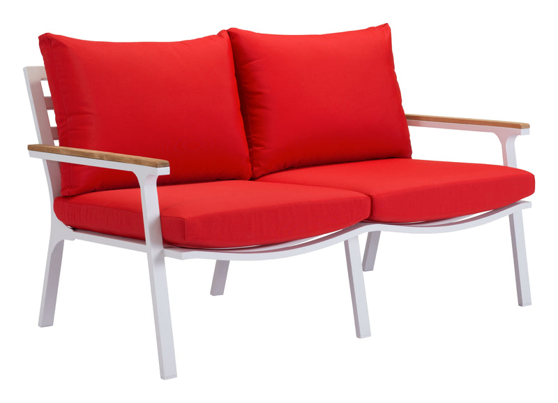 Maya Beach Sofa (Red, Nautral & White)