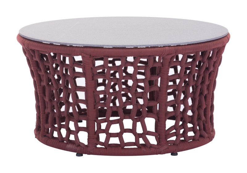 Faye Bay Beach Coffee Table (Cranberry & Granite)