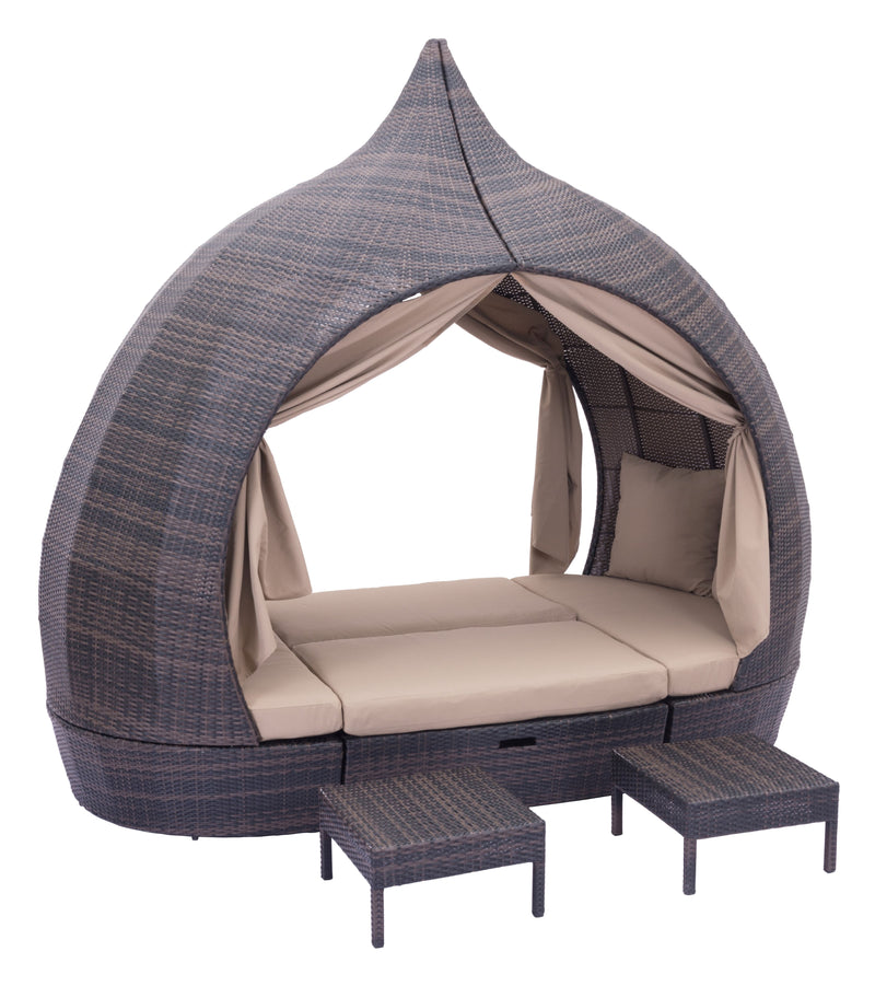 Majorca Daybed (Brown & Beige)