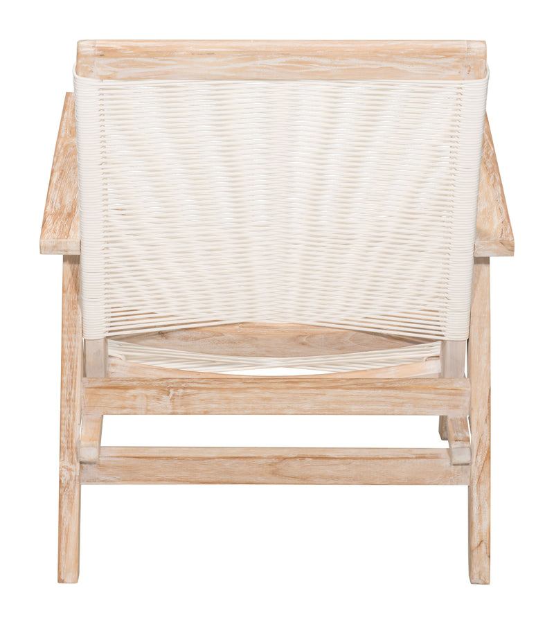 West Port Arm Chair (White Wash & White)