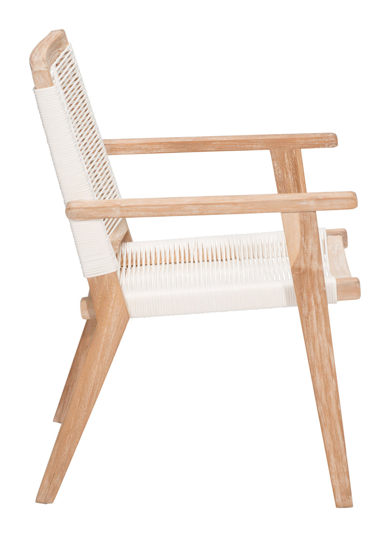 West Port Dining Chair (White Wash & White)