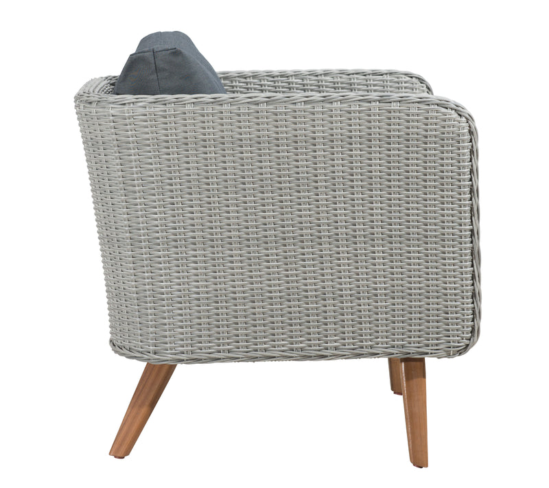 Grace Bay Arm Chair (Natural & Gray)