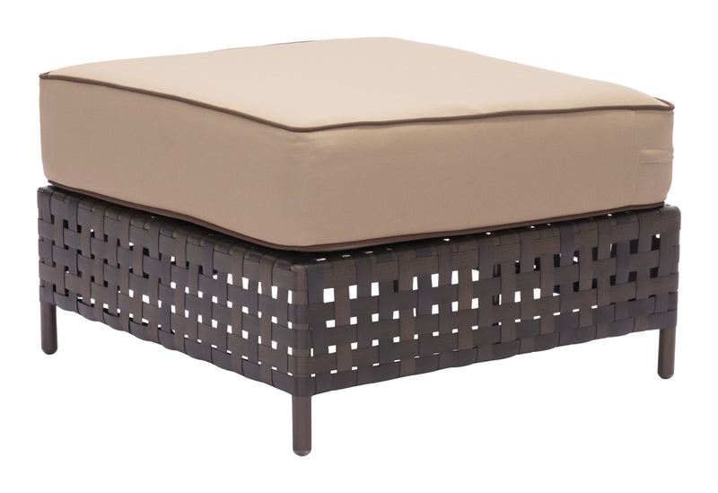 Pinery Ottoman (Brown & Beige)