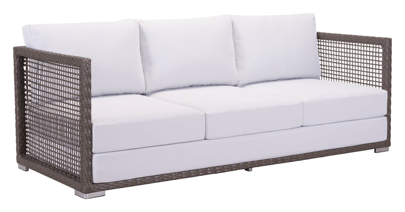 Coronado Sofa (Cocoa & Light Gray)