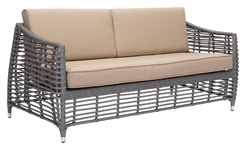 Trek Beach Sofa (Gray & Beige)
