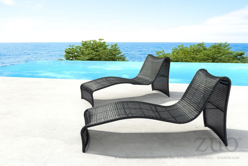 Rocky Beach Chaise Lounge (Espresso)