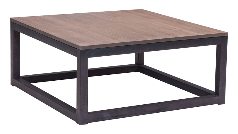 Civic Center Square Coffee Table (Distressed Natural)