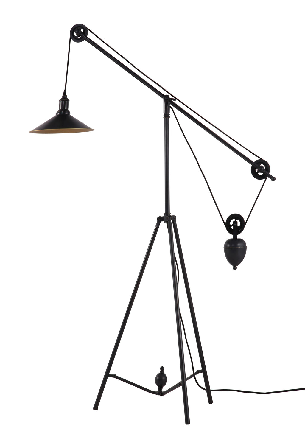 Jasper Floor Lamp (Antique Black Gold)