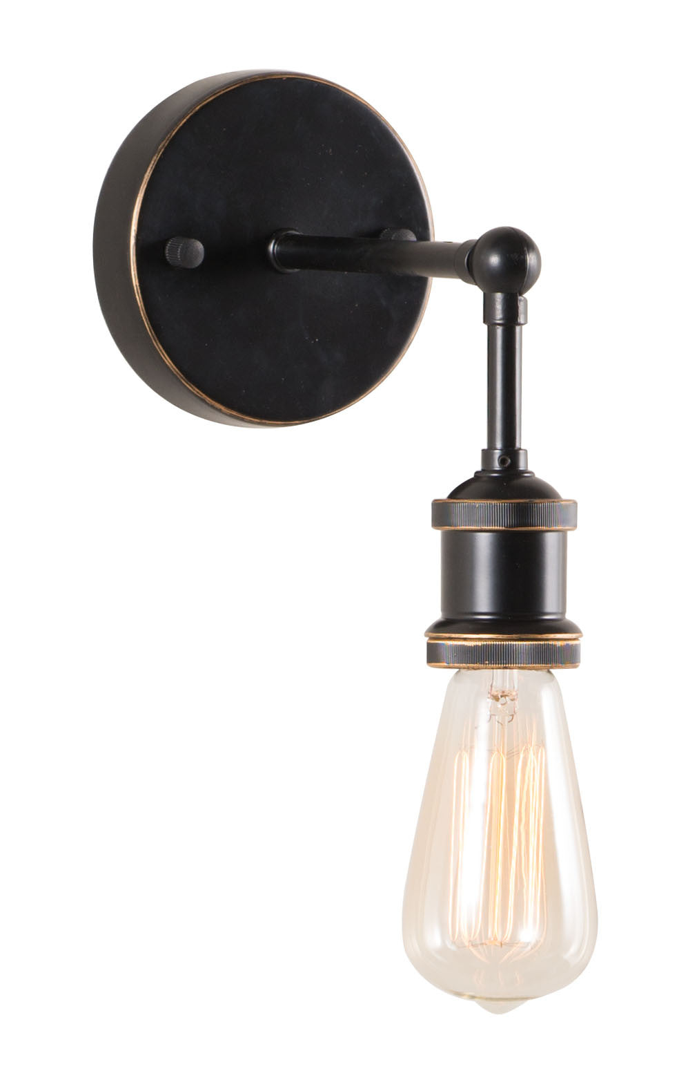 Miserite Wall Lamp (Antique Black Gold & Copper)