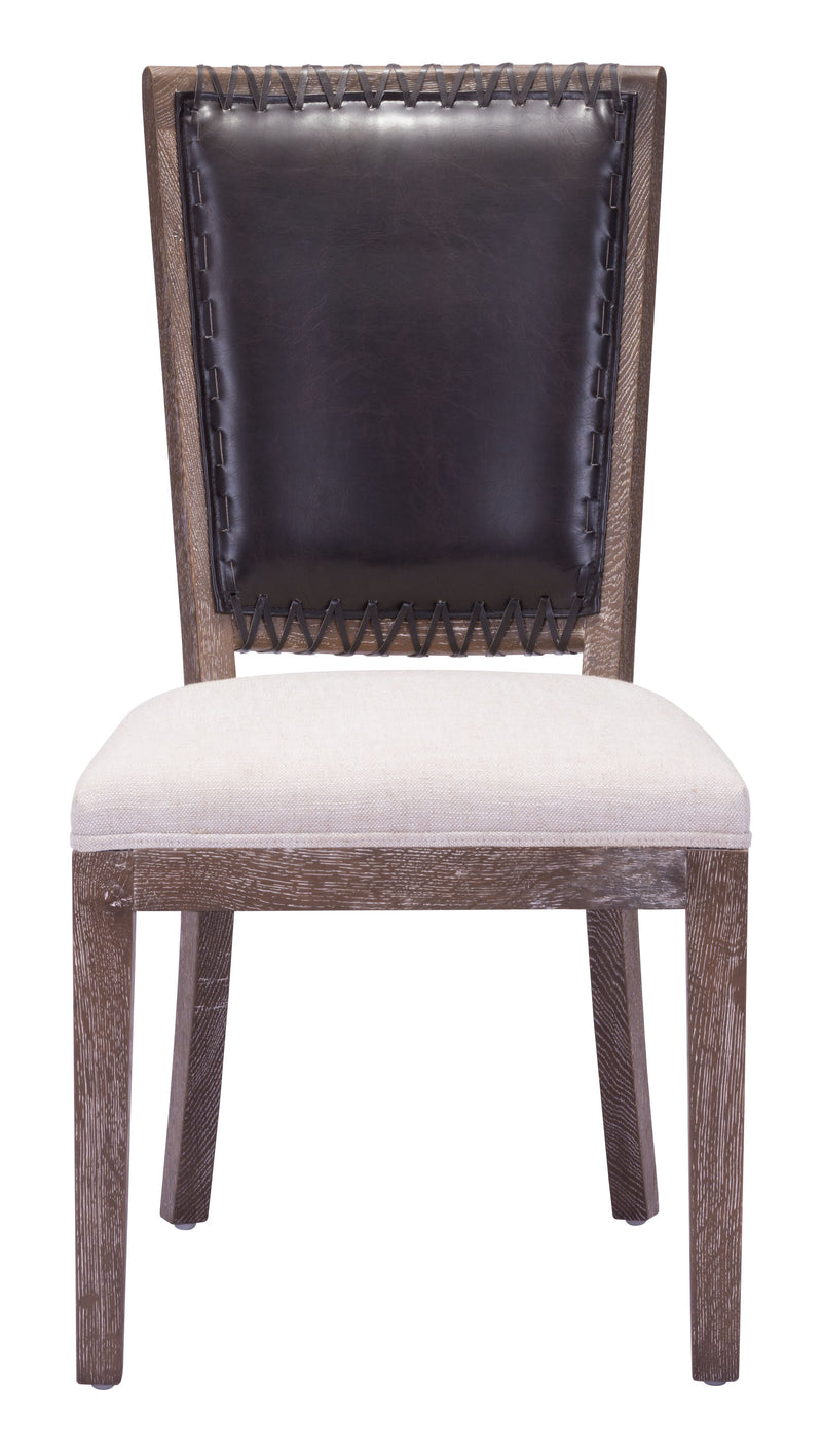 Market Dining Chair (Brown & Beige)