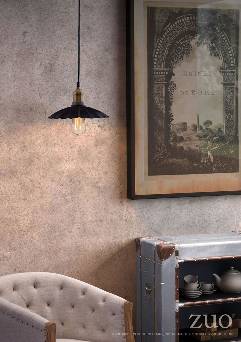 Hamilton Ceiling Lamp (Anitque Black & Copper)