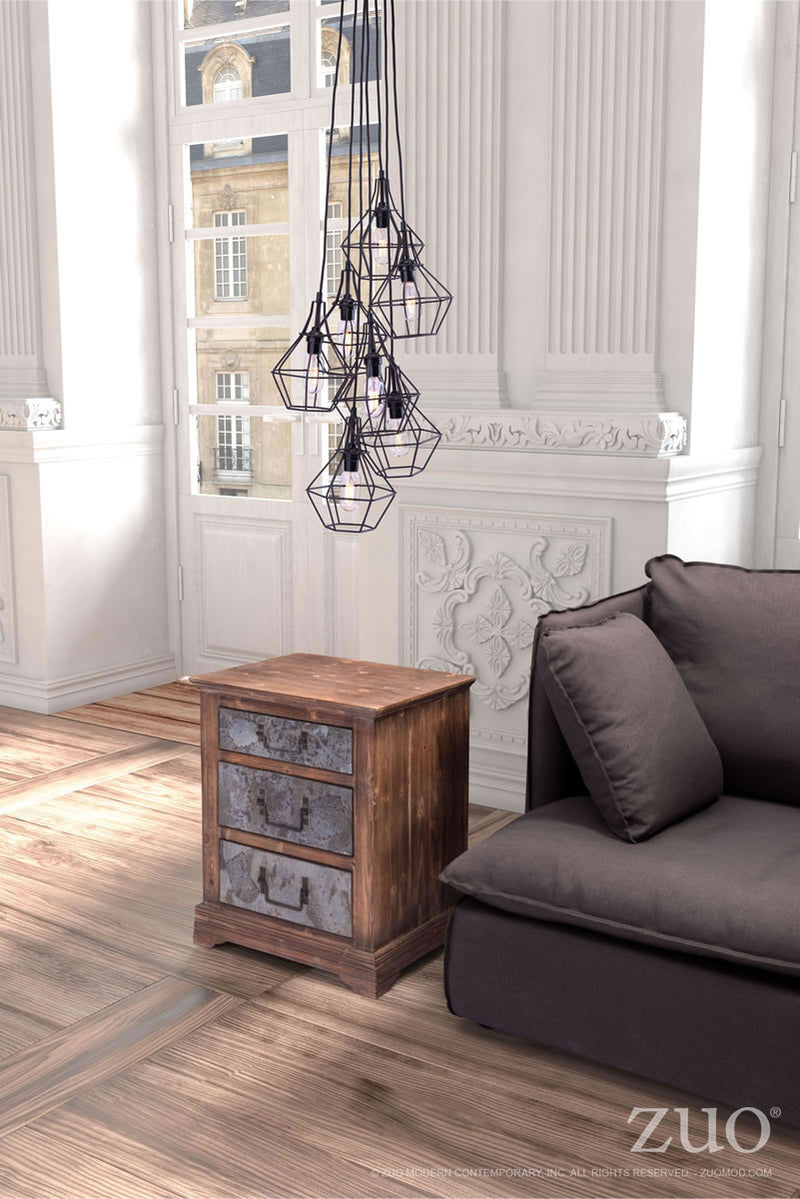 Palmerston Ceiling Lamp (Distressed Black)