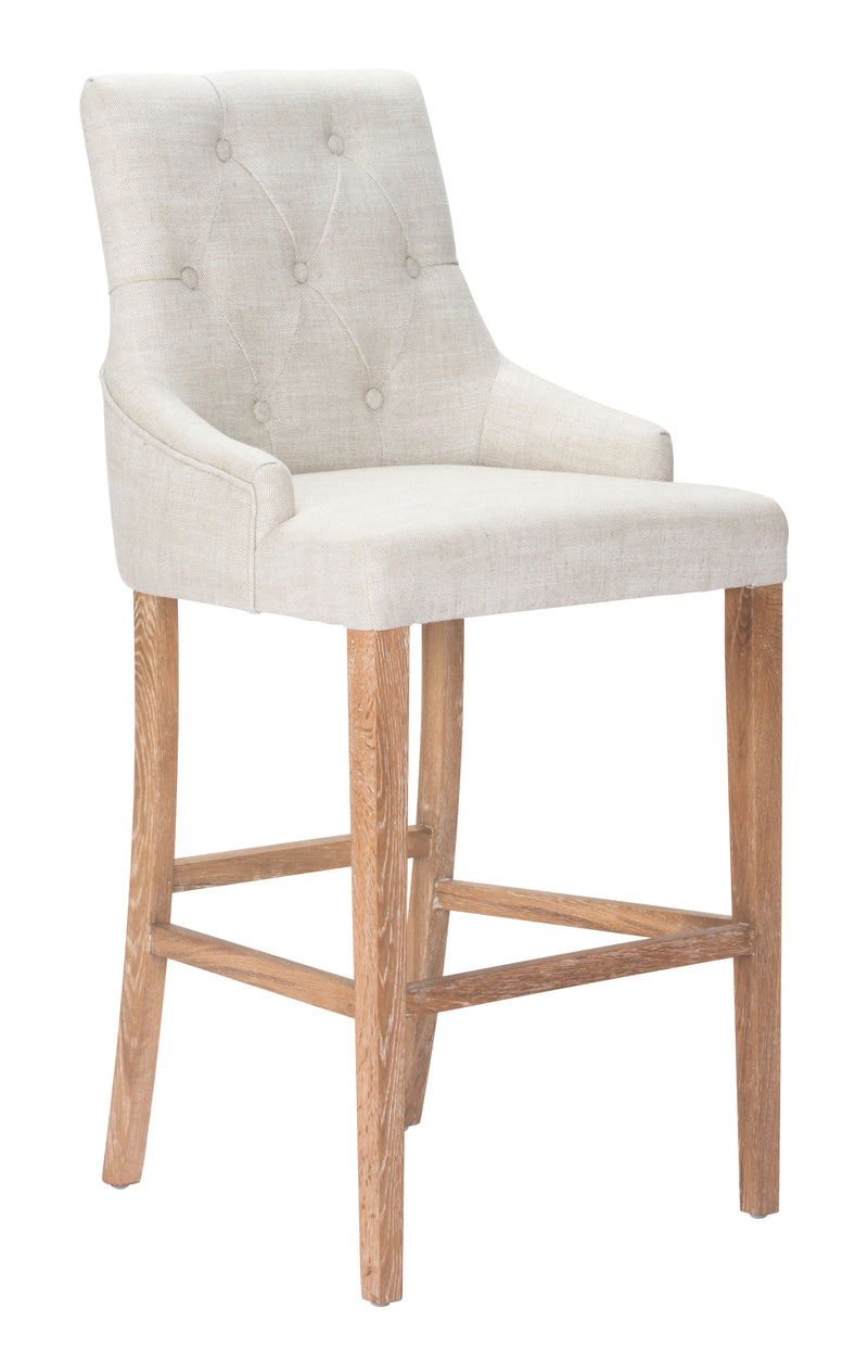 Burbank Bar Chair (Beige)