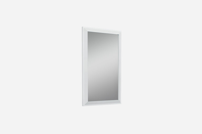 Abrazo Mirror, high gloss white