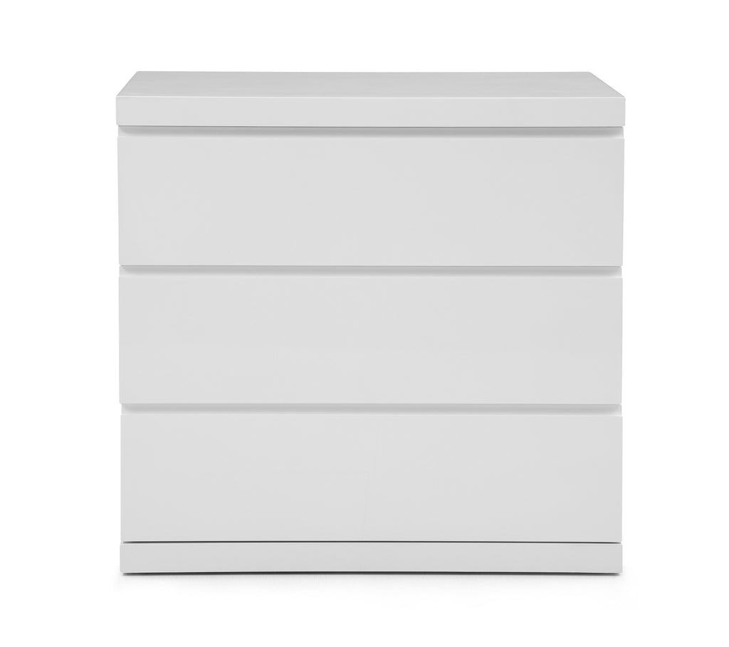 Anna Dresser Single, High Gloss White, Full extension drawers