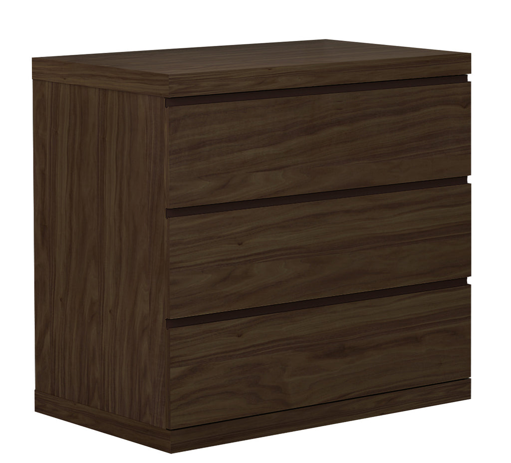Anna Dresser Single, Natural Walnut Veneer, Full extension drawers