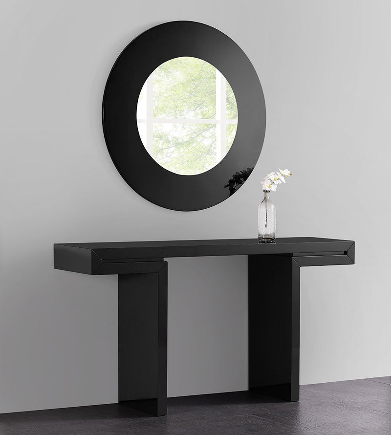 Delaney Console, High black gloss lacquer