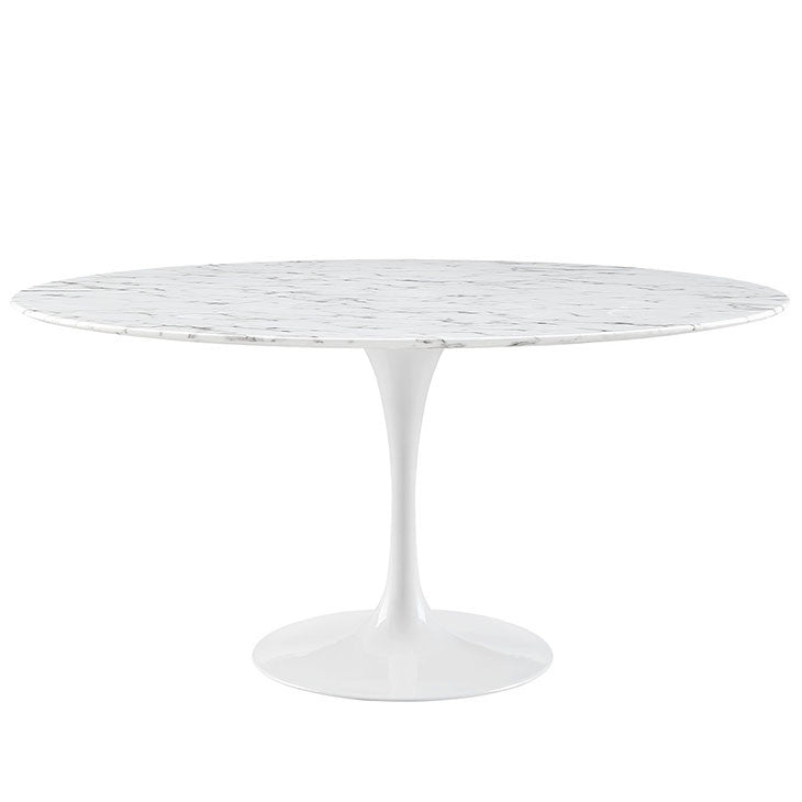 "Lippa 60"" Round Artificial Marble Dining Table"