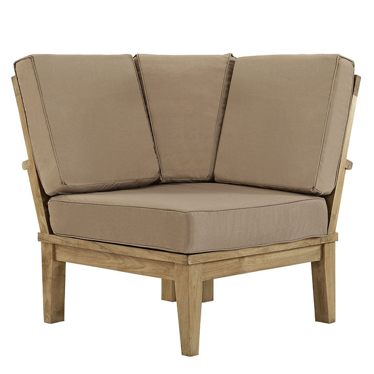 Marina Outdoor Patio Teak Corner Sofa