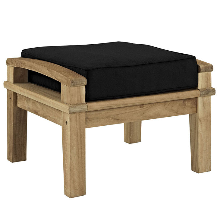 Marina Outdoor Patio Teak Ottoman