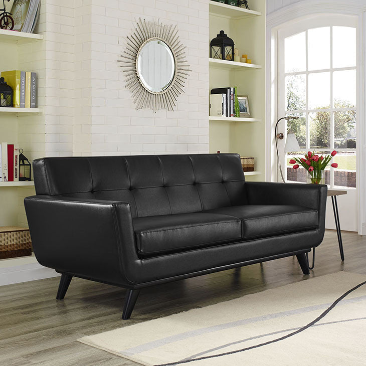 Engage Bonded Leather Loveseat