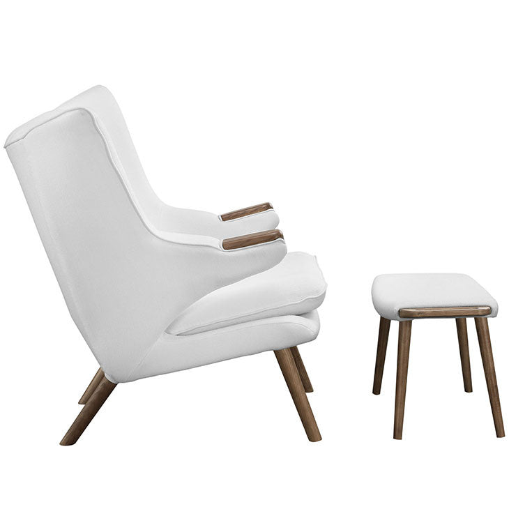 Bear Lounge Chair and Ottoman