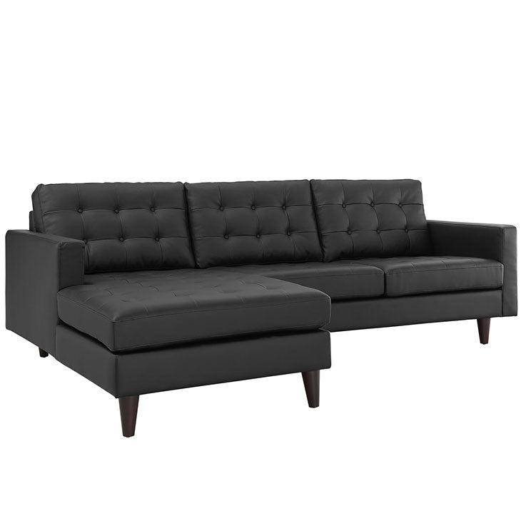 Empress Left-Facing Leather Sectional Sofa