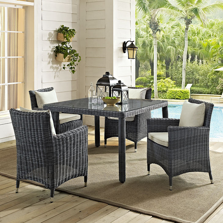 "Summon 47"" Square Outdoor Patio Dining Table"