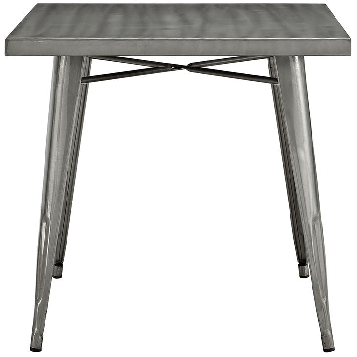 Alacrity Square Metal Dining Table