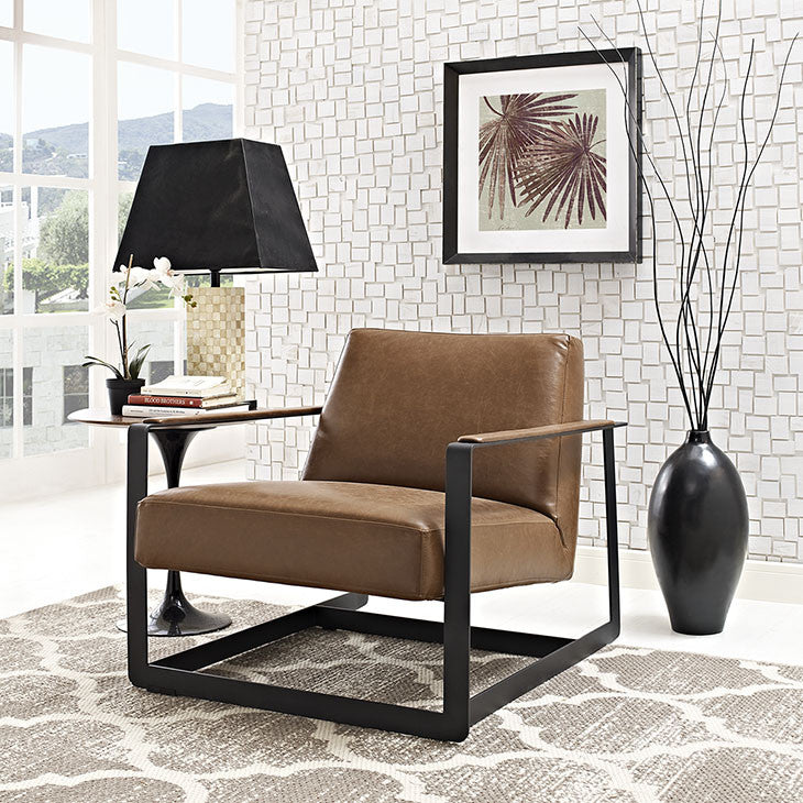 Seg Vinyl Accent Chair