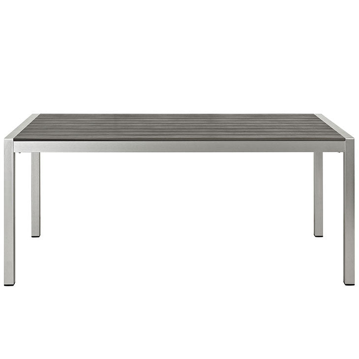 Shore Outdoor Patio Aluminum Dining Table