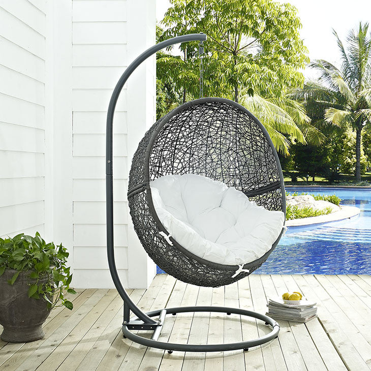 Hide Outdoor Patio Swing Chair With Stand