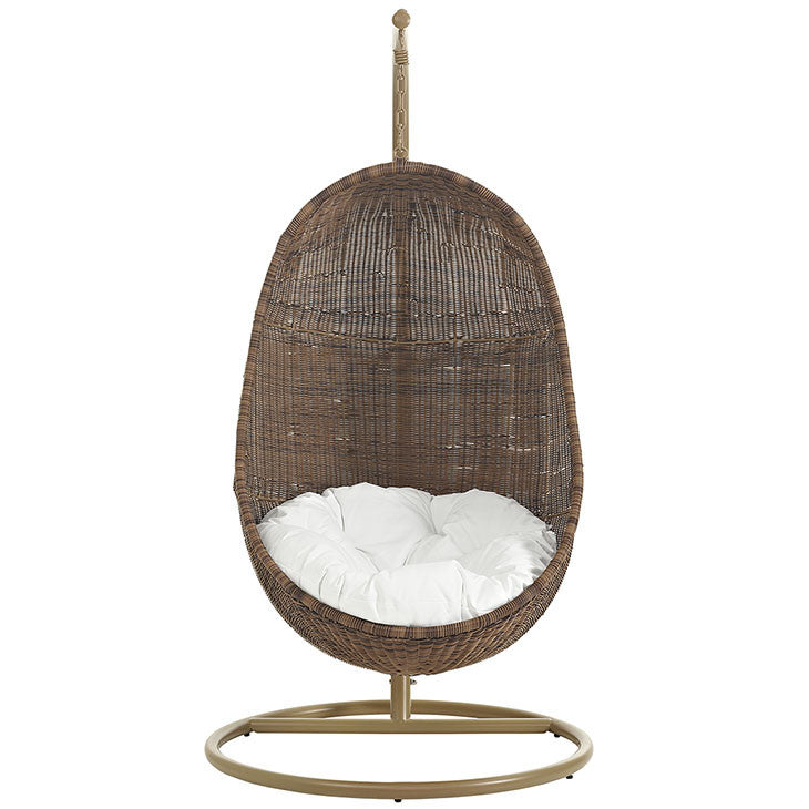 Bean Outdoor Patio Wood Swing