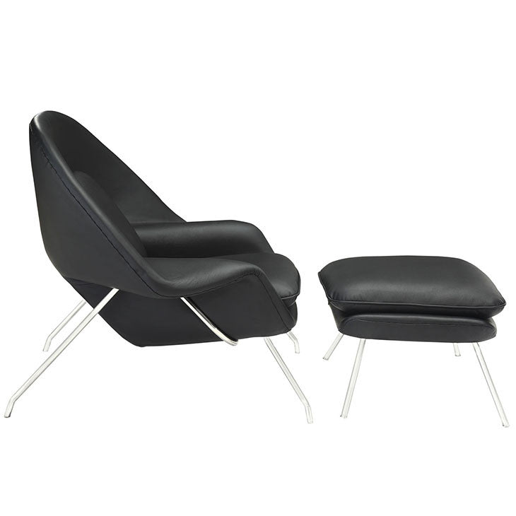 W Leather Lounge Chair