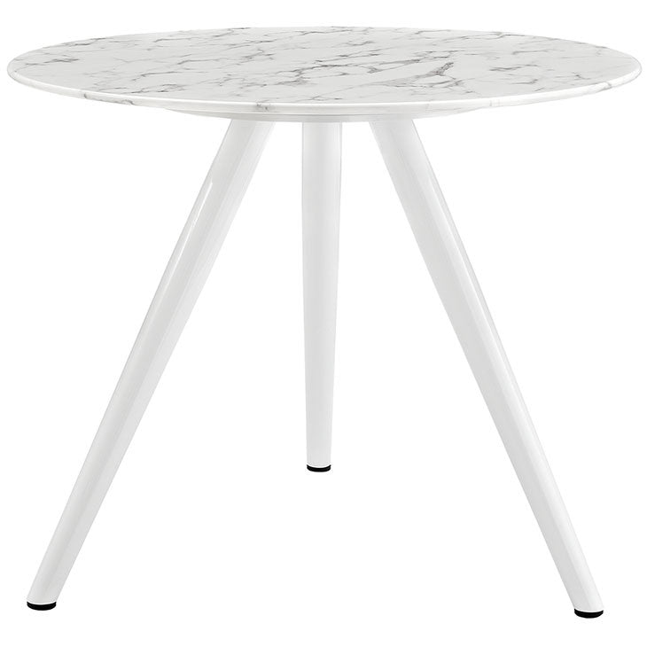 "Lippa 36"" Round Artificial Marble Dining Table with Tripod Base"