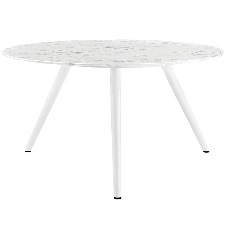 "Lippa 54"" Round Artificial Marble Dining Table with Tripod Base"