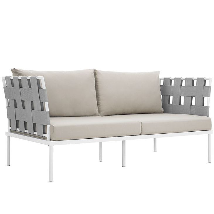 Harmony Outdoor Patio Aluminum Loveseat