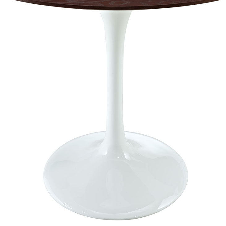 "Lippa 36"" Round Walnut Dining Table"