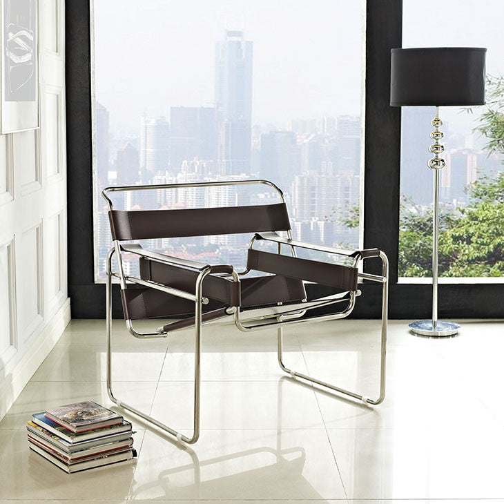 Slingy Vinyl Lounge Chair