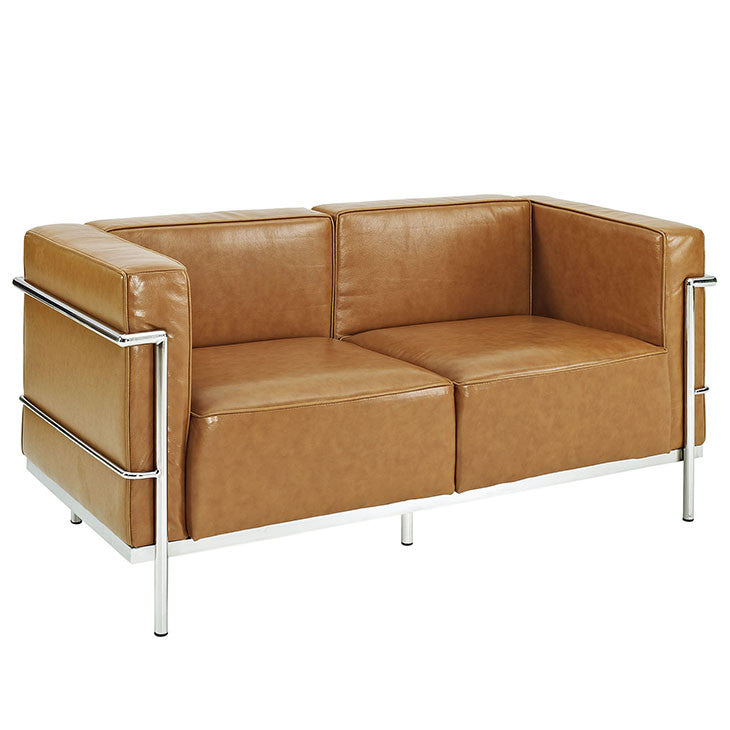 Charles Grande Leather Loveseat