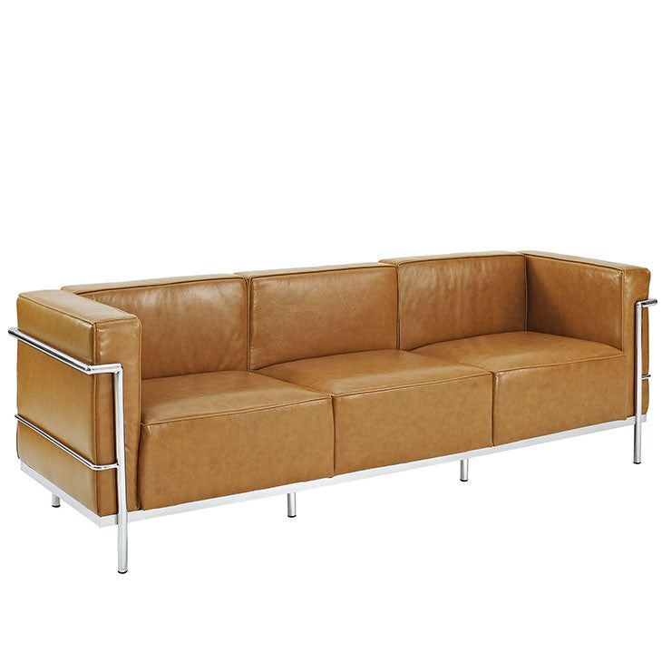Charles Grande Leather Sofa